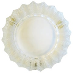 Lalique French Crystal Ashtray or Dish with Leaf Design