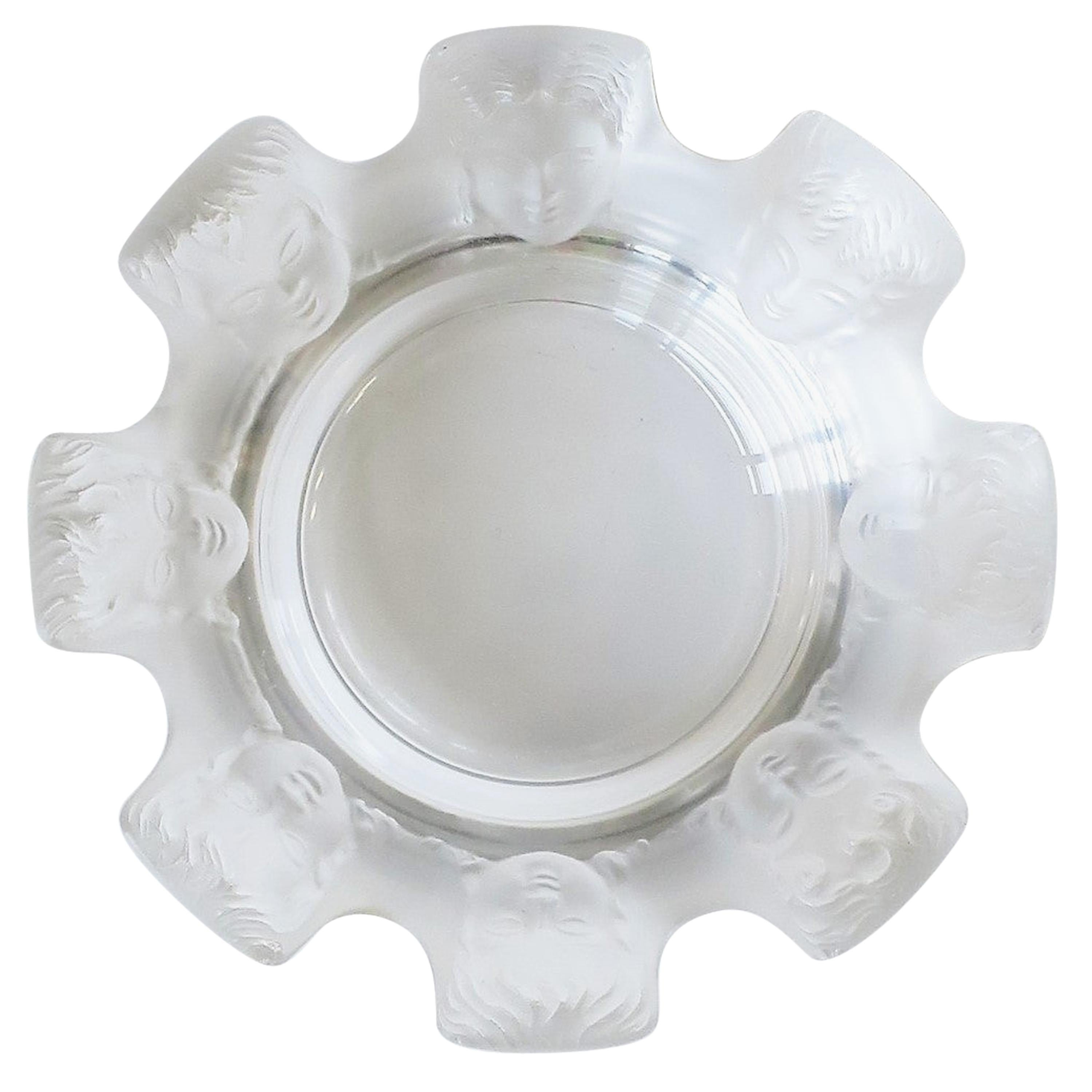 Lalique French Crystal Jewelry Dish in the Neoclassical Style