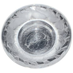 Lalique Irene Circle of Birds Clear and Satin Crystal Pin Dish