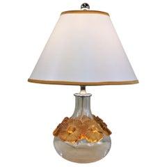 """Lalique """"La Fleur Au Lilas"""" Crystal Table Lamp"""