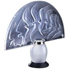 "Lalique & Marie Claude Lalique ""Hokkaido"" Lamp"