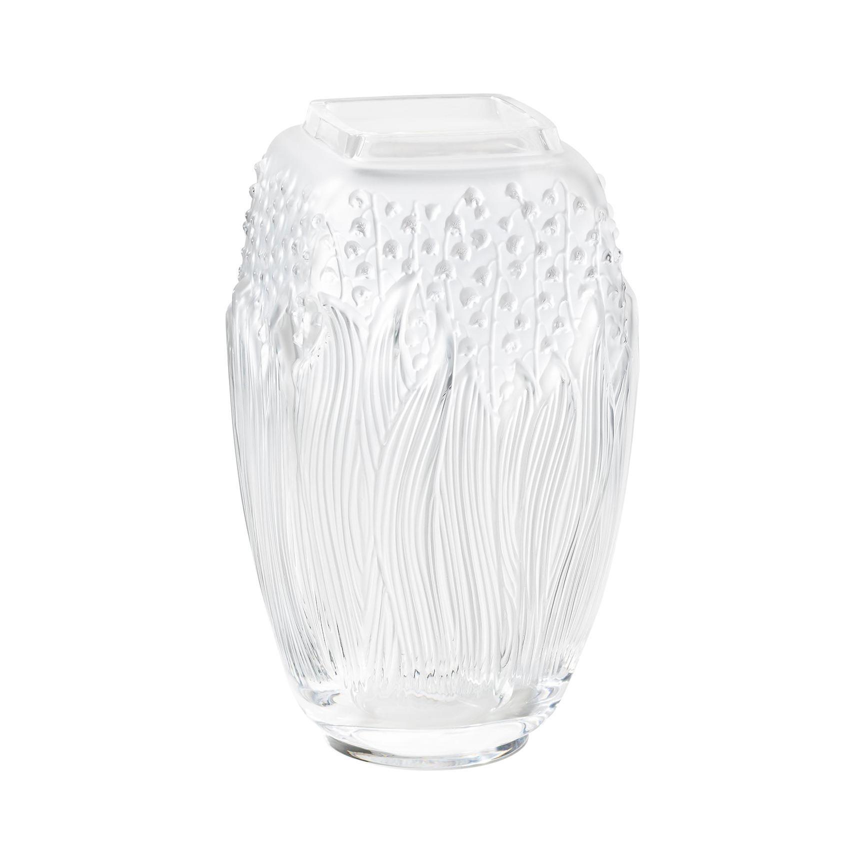 Lalique Muguet Vase Clear Crystal