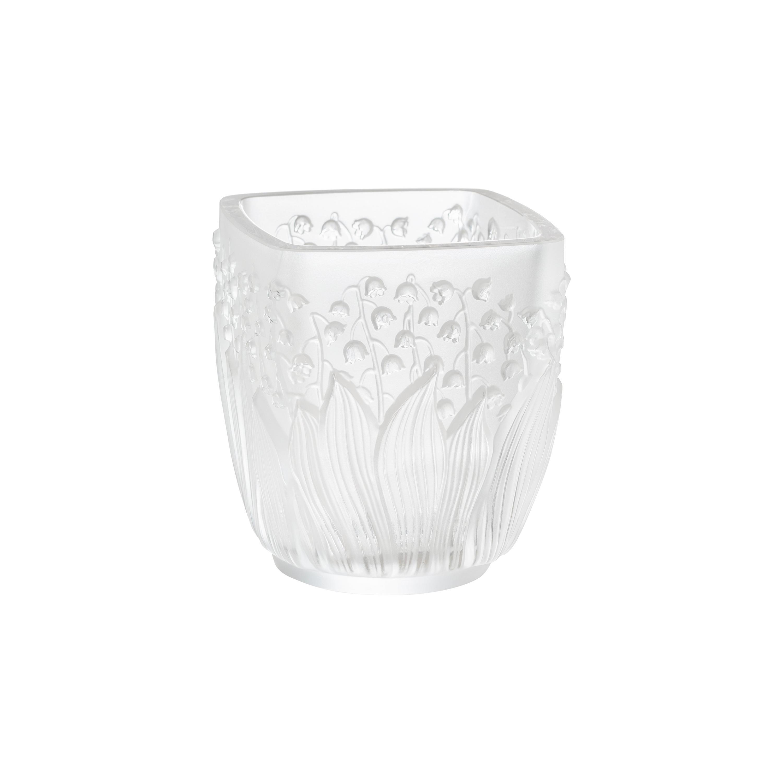 Lalique Muguet Votive Clear Crystal