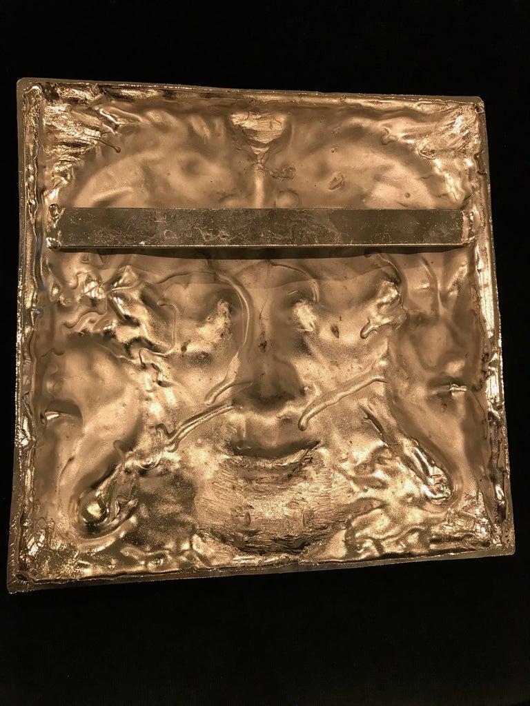 Nickel Masque de Femme Face Wall Plaque Sculpture For Sale 5