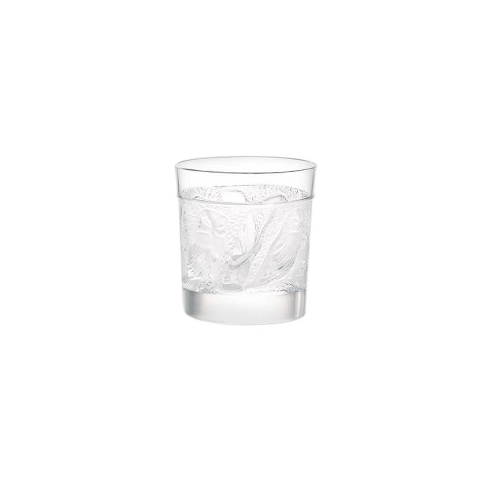 Lalique Owl Cordial/Whiskey Tumbler in Clear Crystal