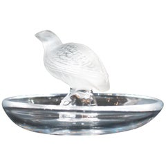 Lalique Partridge Ring Dish