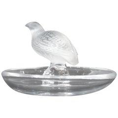 Lalique Partridge Ring Dish