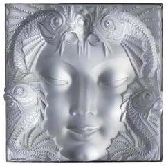 """Lalique Plate """"Masque de Femme"""" 1935 Art Deco"""