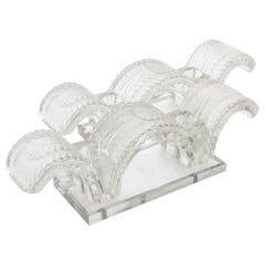 "Lalique ""Porquerolles"" Candleholders Signed"