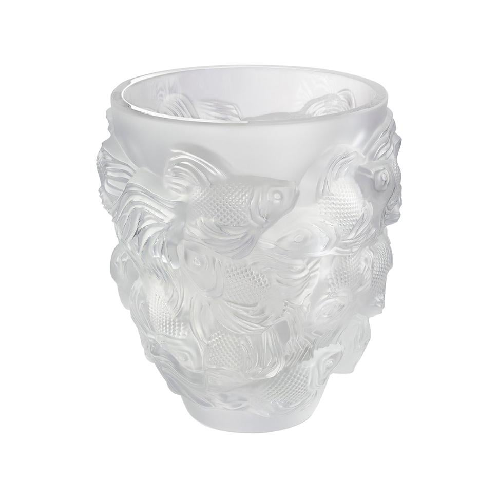 Lalique Rosetail Vase Clear Crystal