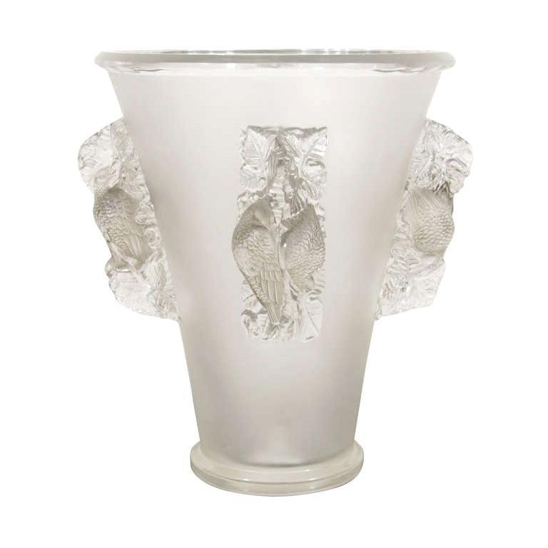 Lalique Saint Emilion Vase