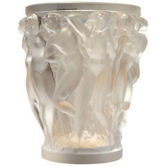 Lalique, Vase Bacchantes Crystal Clear, 1927