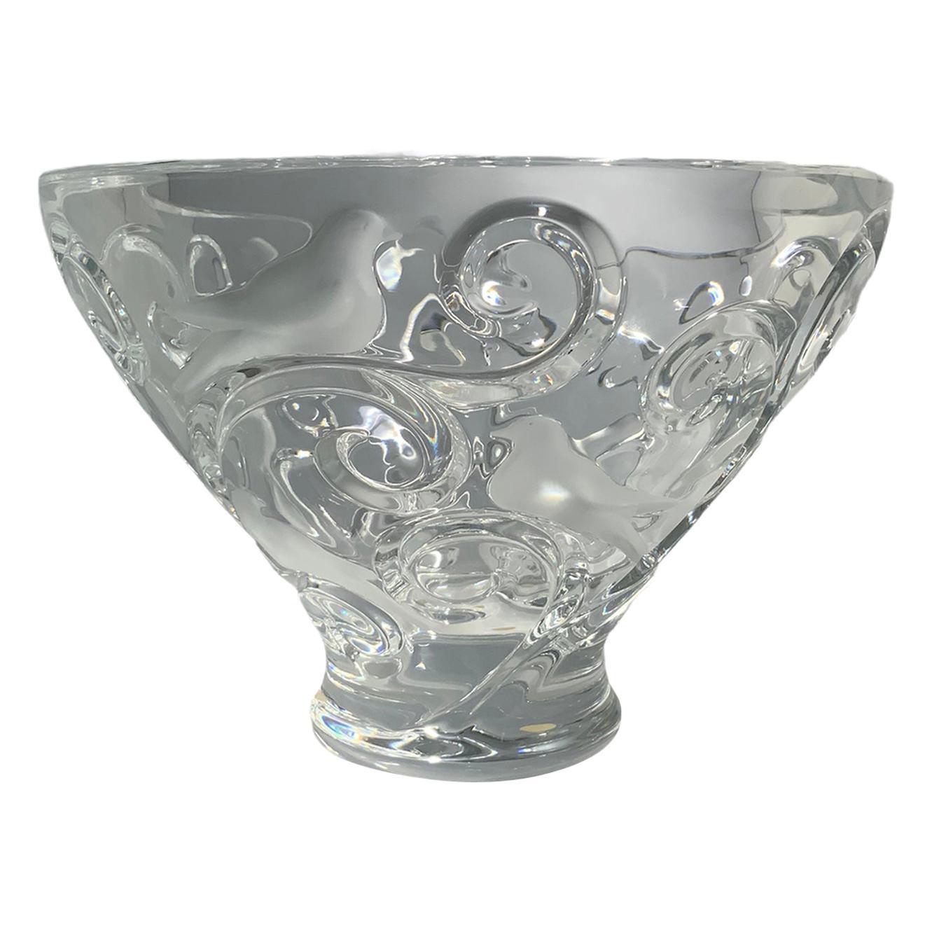 Lalique Verone Crystal Bowl Centerpiece