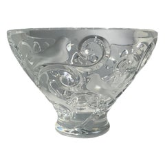 Lalique Verone Crystal Bowl Centerpiece