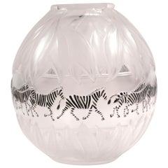 Lalique Zebra Vase