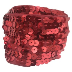 L'altramoda red sequins belt NWOT