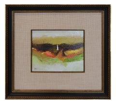 """Beachwalk"" Impressionist Landscape with Figure"