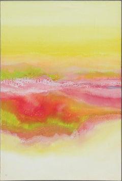 """Guadalajara Springtime"" Yellow, Orange, and Magenta Toned Landscape Painting"