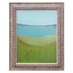 """Landscape with Water"" Impressionist Minimal Sea Landscape"