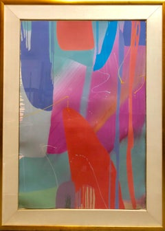 Monumental Texas Modernist Abstract Expressionist Color Field Acrylic Painting