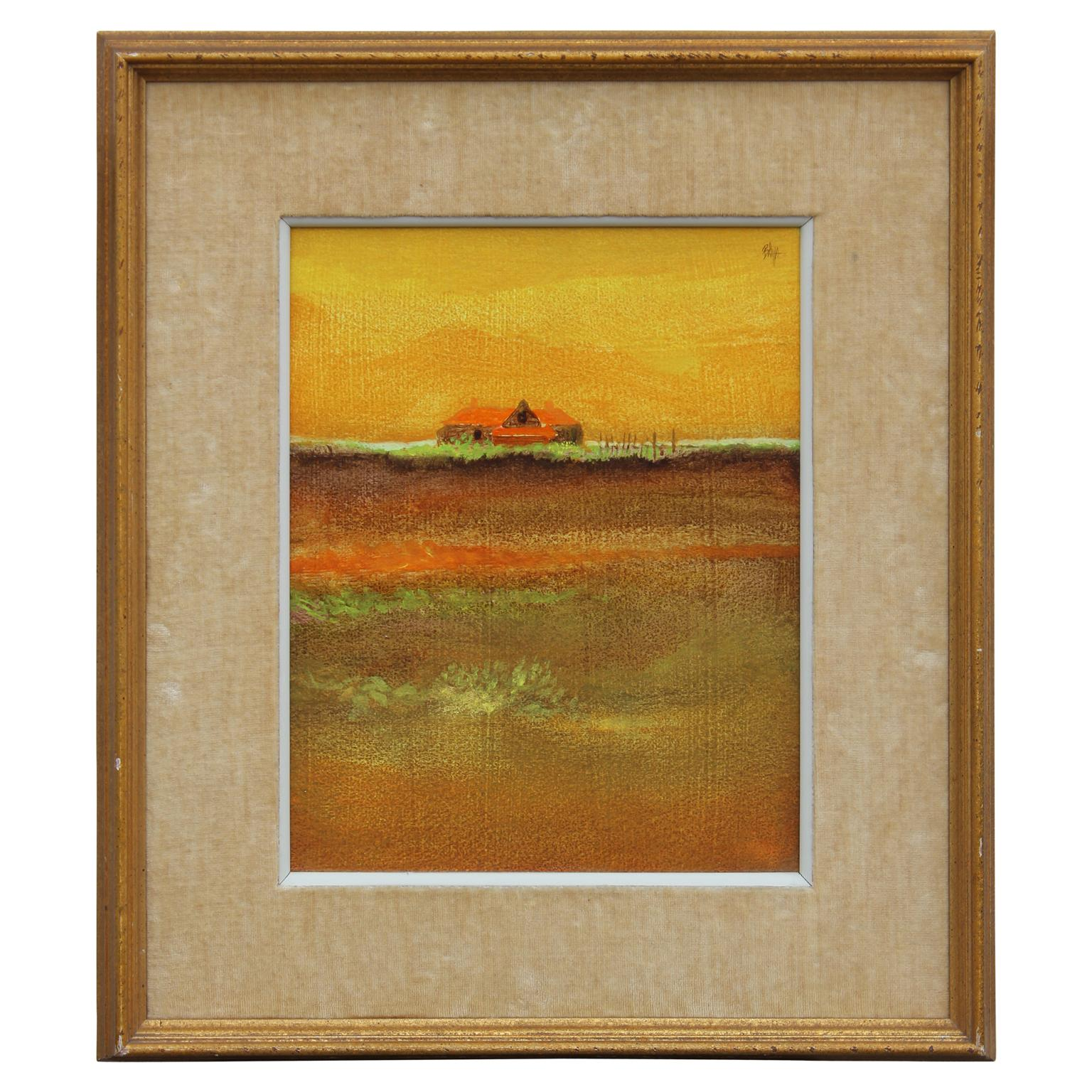 Abstract Impressionist Galveston, Texas Landscape