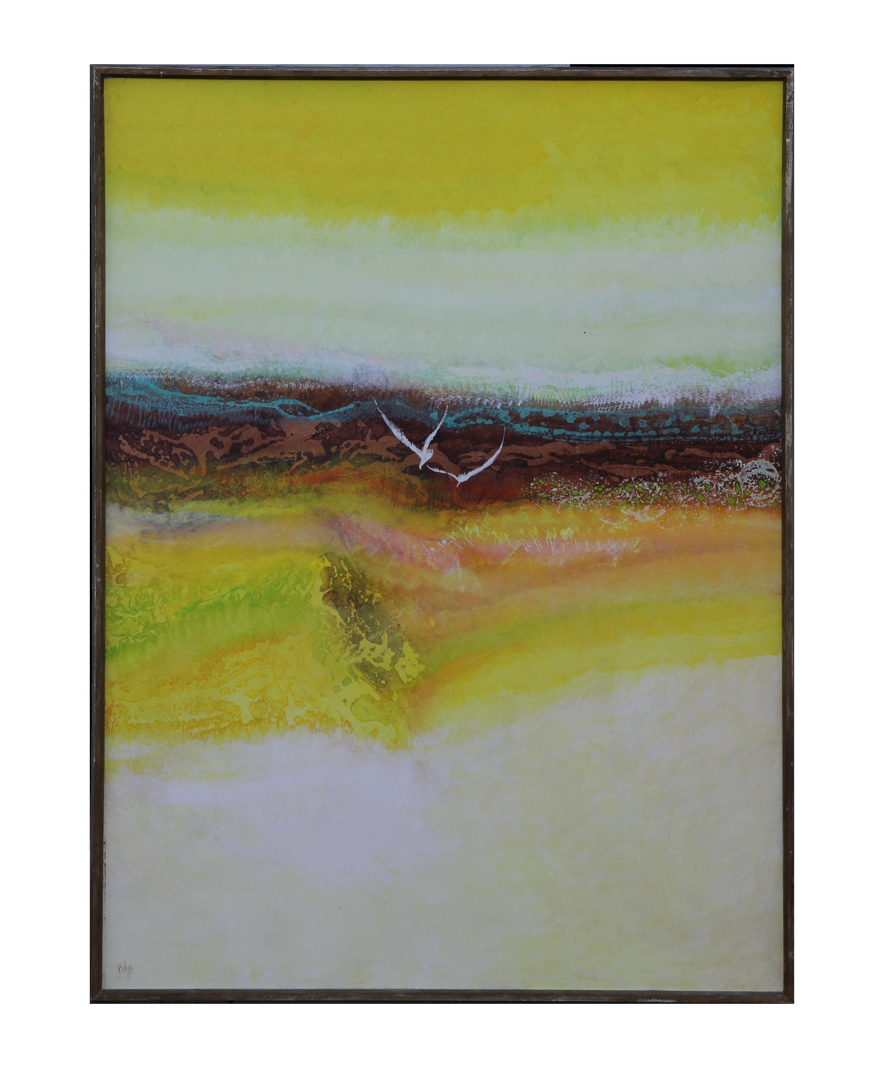 """""""Winter Flight"""" Abstract Expressionist Landscape Painting"""