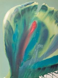 Flower Coasas II, Colorful Abstract by Lamar Briggs
