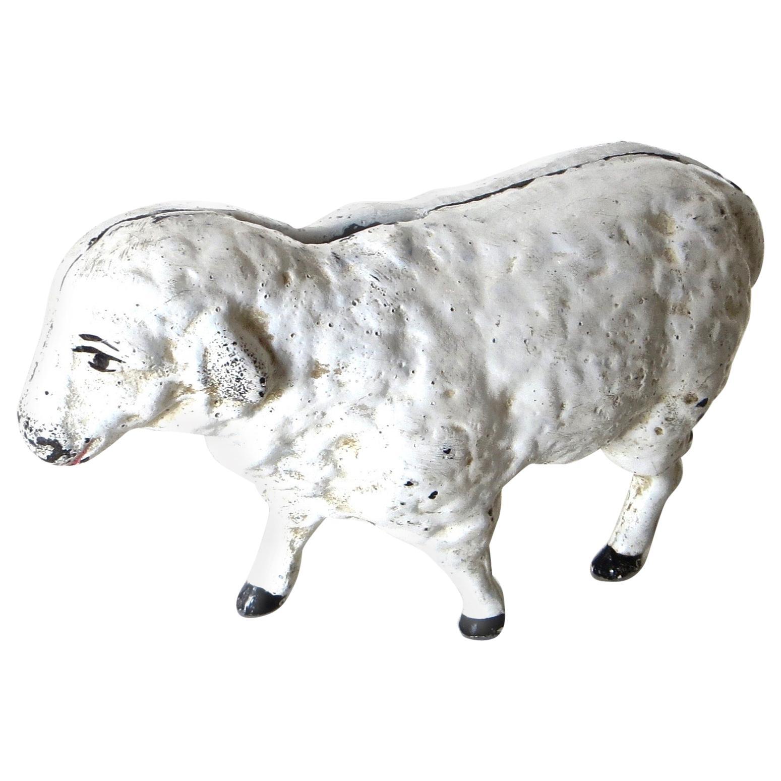 """Lamb"" Cast Iron Still Bank, American, Circa 1970"