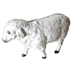 """Lamb"" Cast Iron Still Bank, American, Circa 1970"
