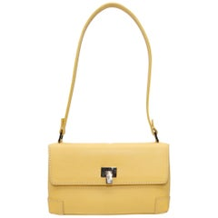 Lambertson Truex Light Yellow Mini Leather Shoulder Bag