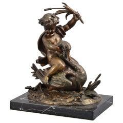 L'amour domptant la grâce 'Love dominating Grace', Bronze, Marble, France