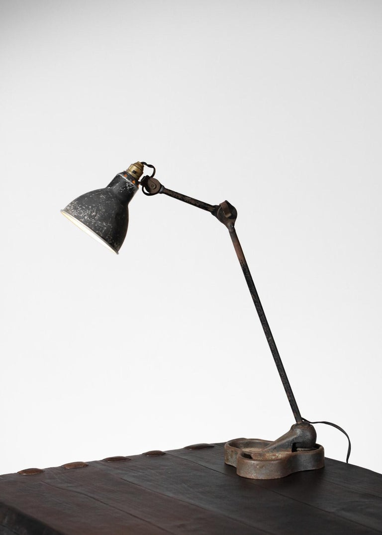 Industrial Lamp by Designer Bernard Albin Gras from the 1950s Le Corbusier French Design For Sale