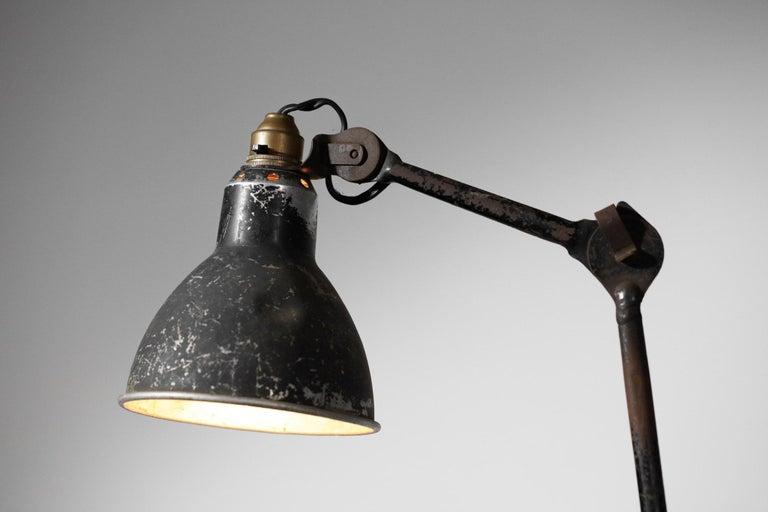 Steel Lamp by Designer Bernard Albin Gras from the 1950s Le Corbusier French Design For Sale