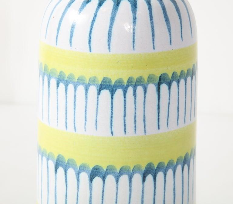 Mid-Century Modern Table Lamp, Ceramic, by Stig Lindberg, Scandinavian Midcentury, circa 1960 For Sale