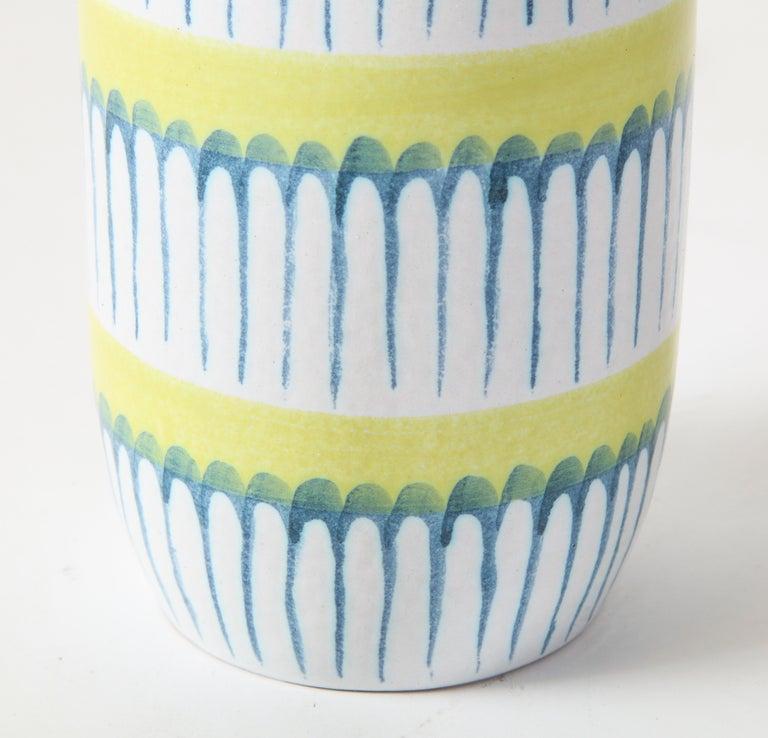 Swedish Table Lamp, Ceramic, by Stig Lindberg, Scandinavian Midcentury, circa 1960 For Sale