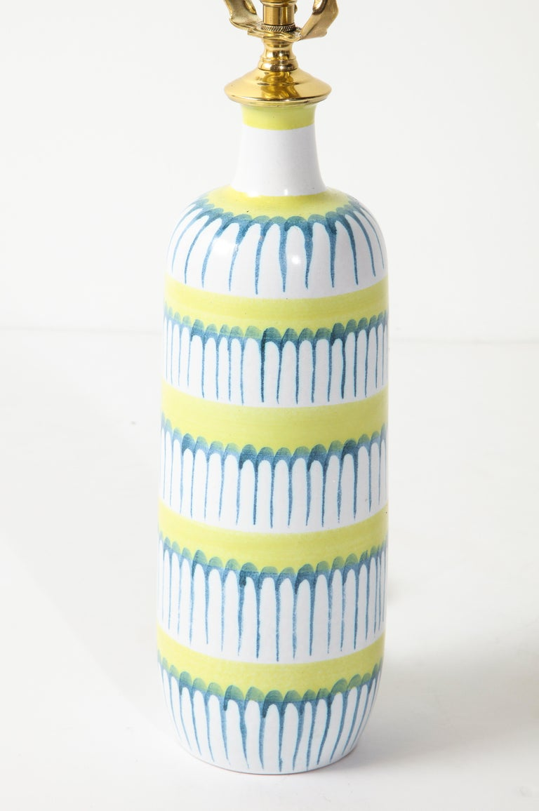 Table Lamp, Ceramic, by Stig Lindberg, Scandinavian Midcentury, circa 1960 In Good Condition For Sale In New York, NY