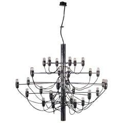 Lamp Chromed Metal Enameled Aluminum 1960s G. Sarfatti Arteluce