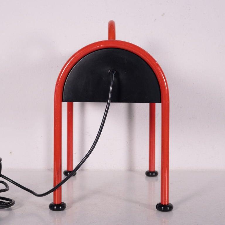 Lamp Enameled Aluminum Metal 1970s-1980s E. Sotsass for Stilnovo For Sale 3