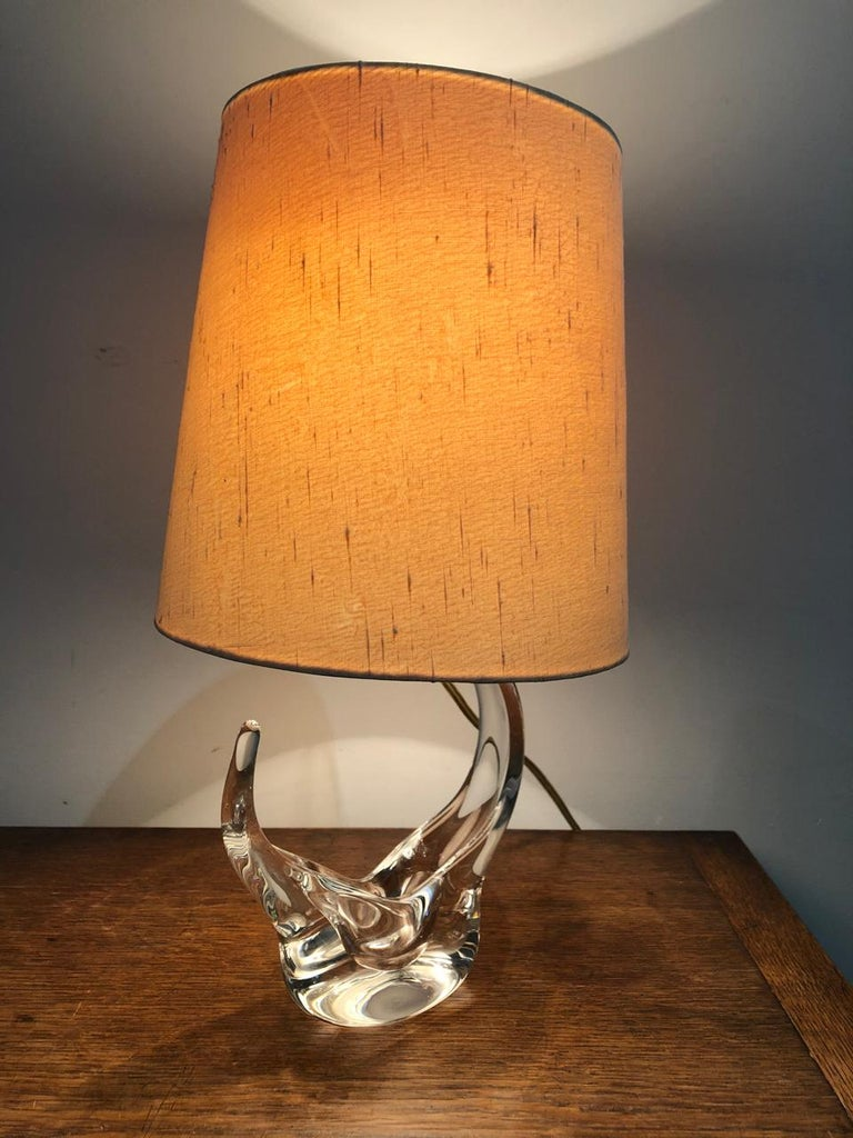 Table lamp in crystal Saint Louis in original condition from the 1950s.