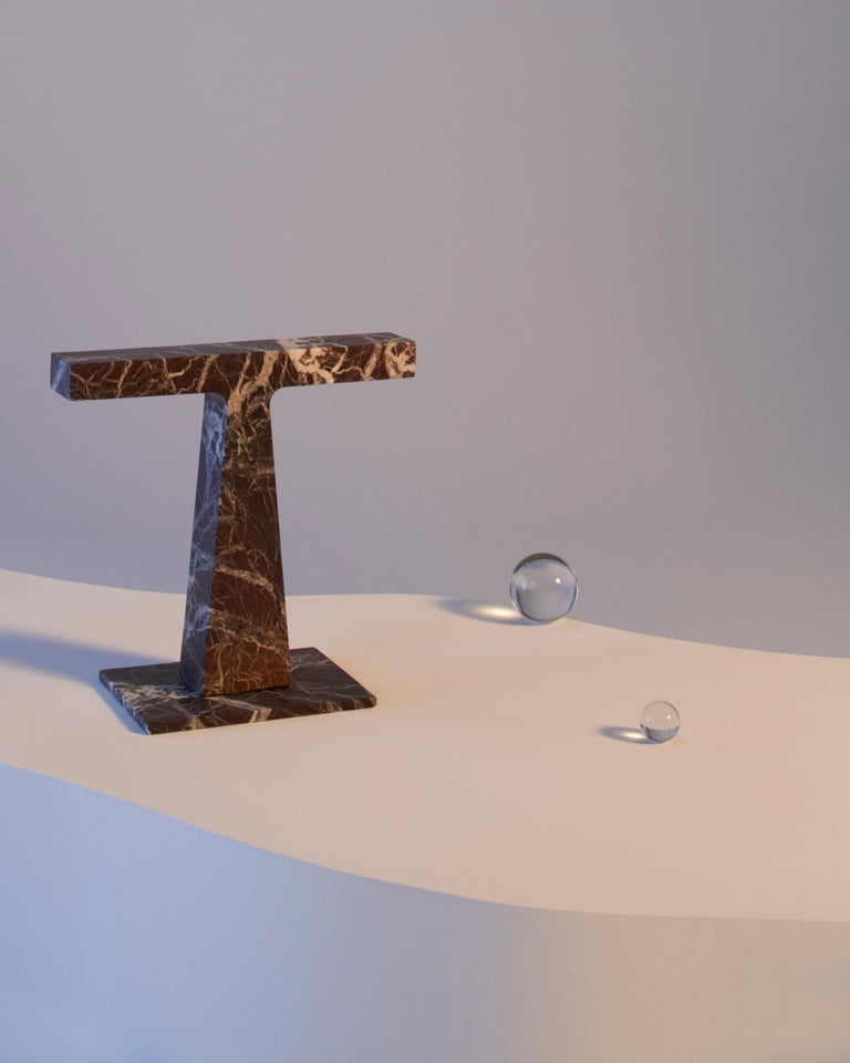 Lamp in Green Guatemala Marble, by Niko Koronis, Made in Italy In New Condition For Sale In Milan, IT