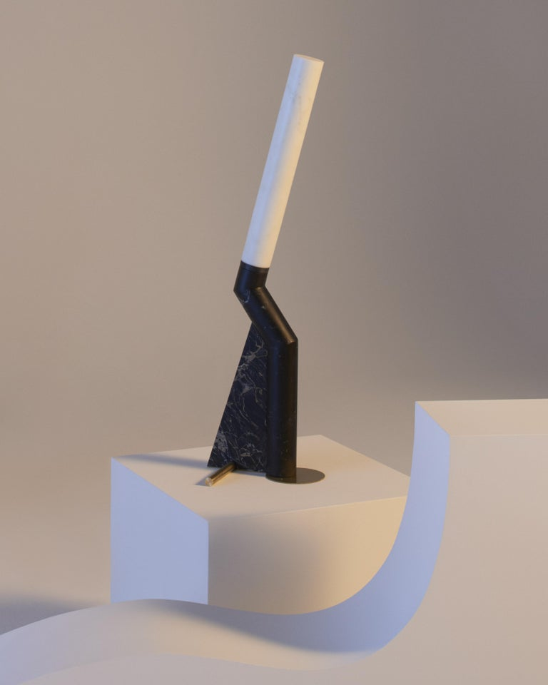 Modern Lamp in Marble, by Bec Brittain, Made in Italy For Sale