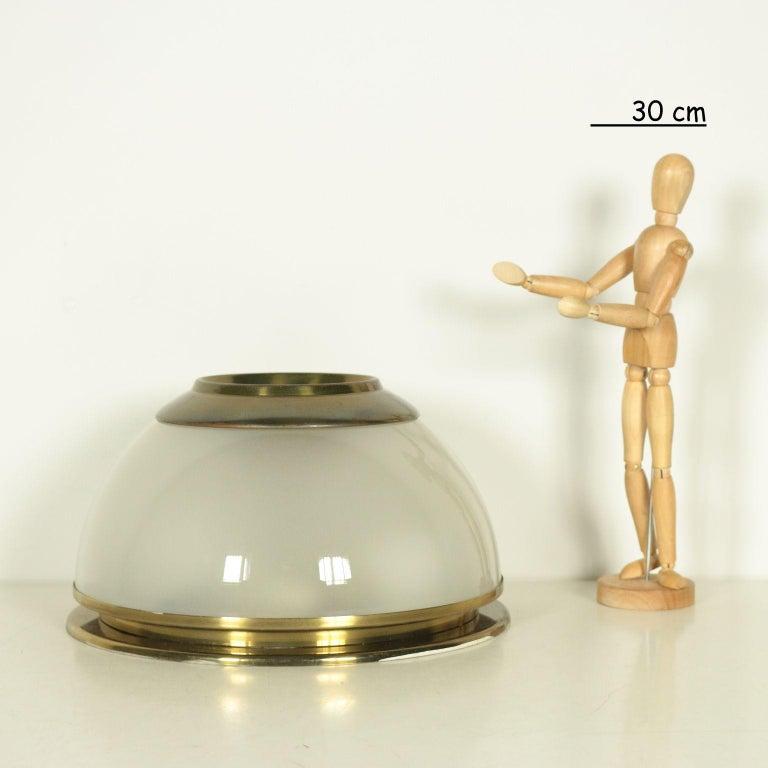 Wall-ceiling lamp. Brass, glass.