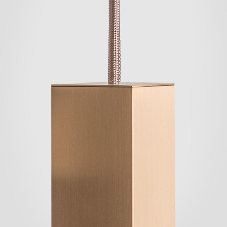 Contemporary Lamp/One Brass 6-Light Chandelier For Sale