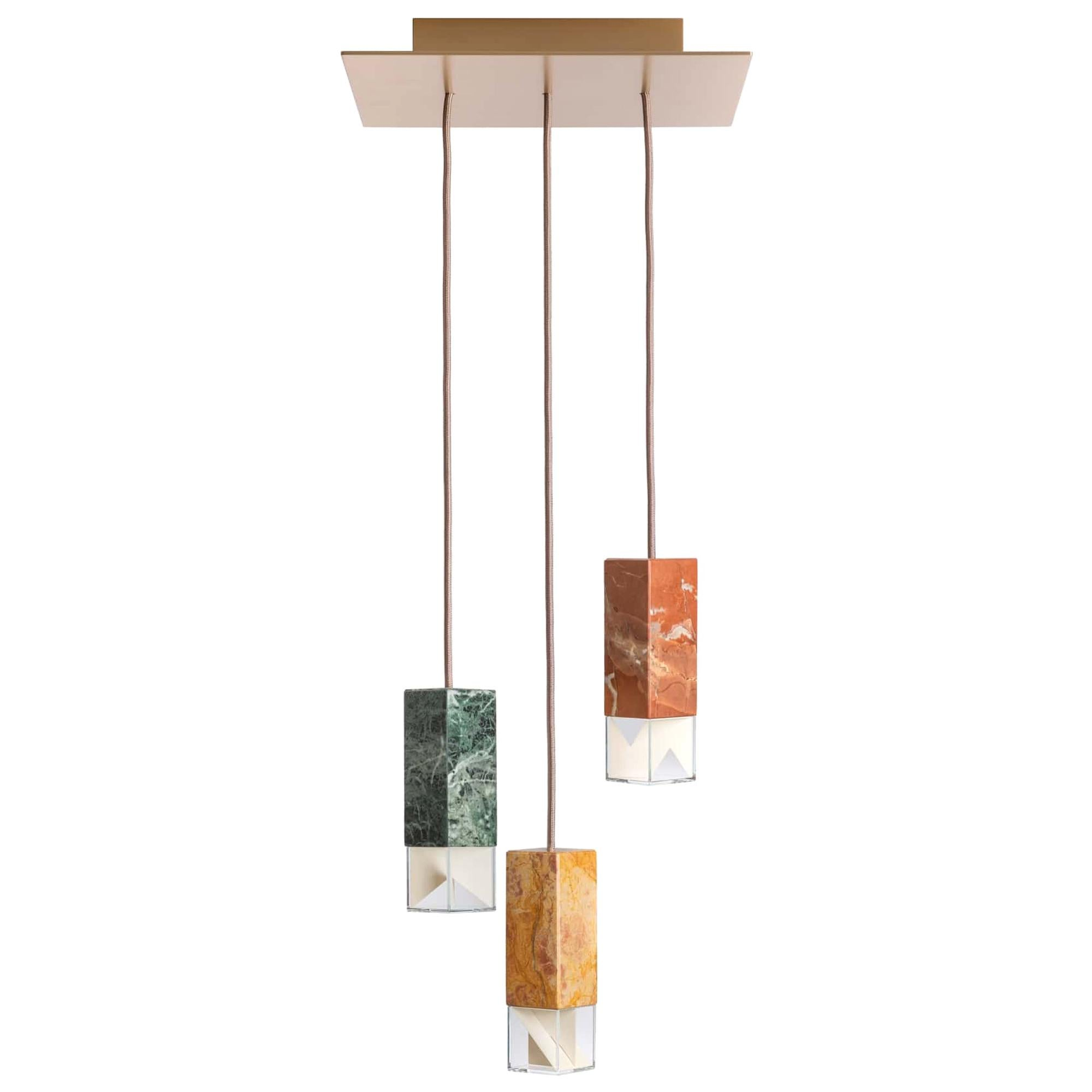 Lamp One Chandelier Color Edition by Formaminima