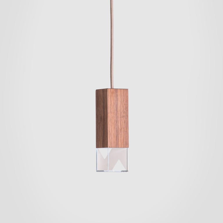 Lamp/One Wood Pendant Lamp In New Condition For Sale In Milan, IT