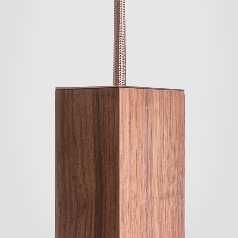 Brass Lamp/One Wood Pendant Lamp For Sale
