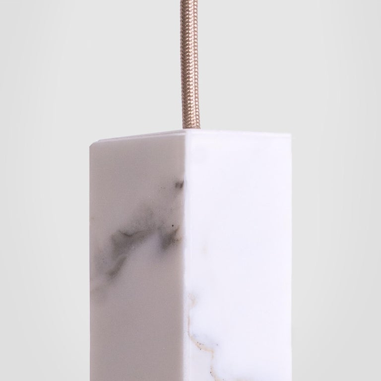 Contemporary Lamp/One Marble 6-Light Chandelier For Sale