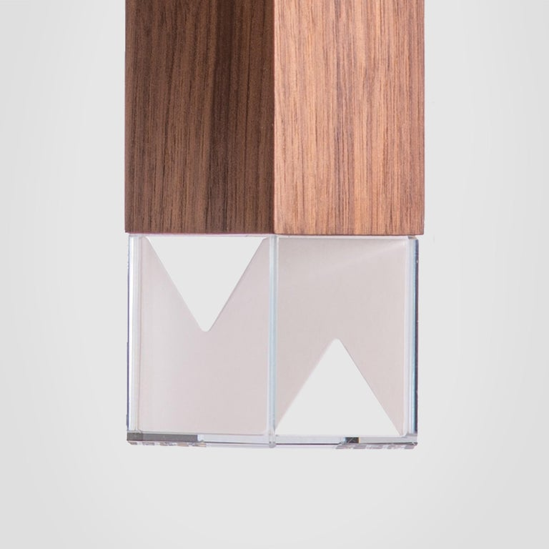 Lamp/One Wood 6-Light Chandelier In New Condition For Sale In Milan, IT