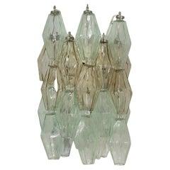 Lamp Poliedri Carlo Scarpa Venini Blown Glass Metal Murano, Italy 70s
