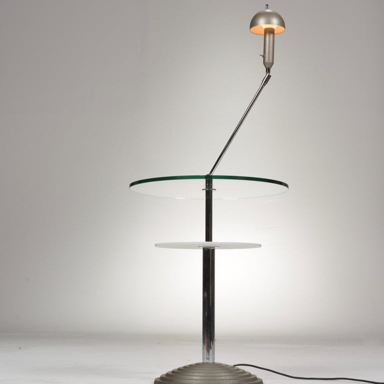 Metal Lamp Table by Daniela Puppa and Franco Raggi for Fontana Arte, 1988 For Sale